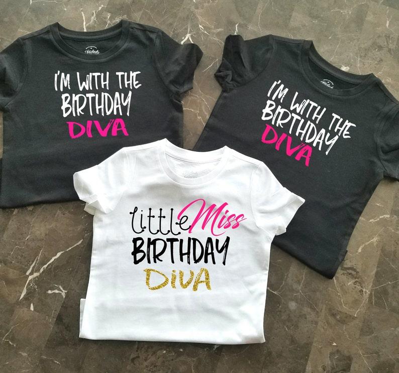 Birthday Party Shirts Girls Little