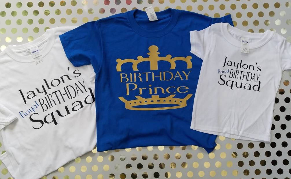 Birthday Party Shirts Boys Prince