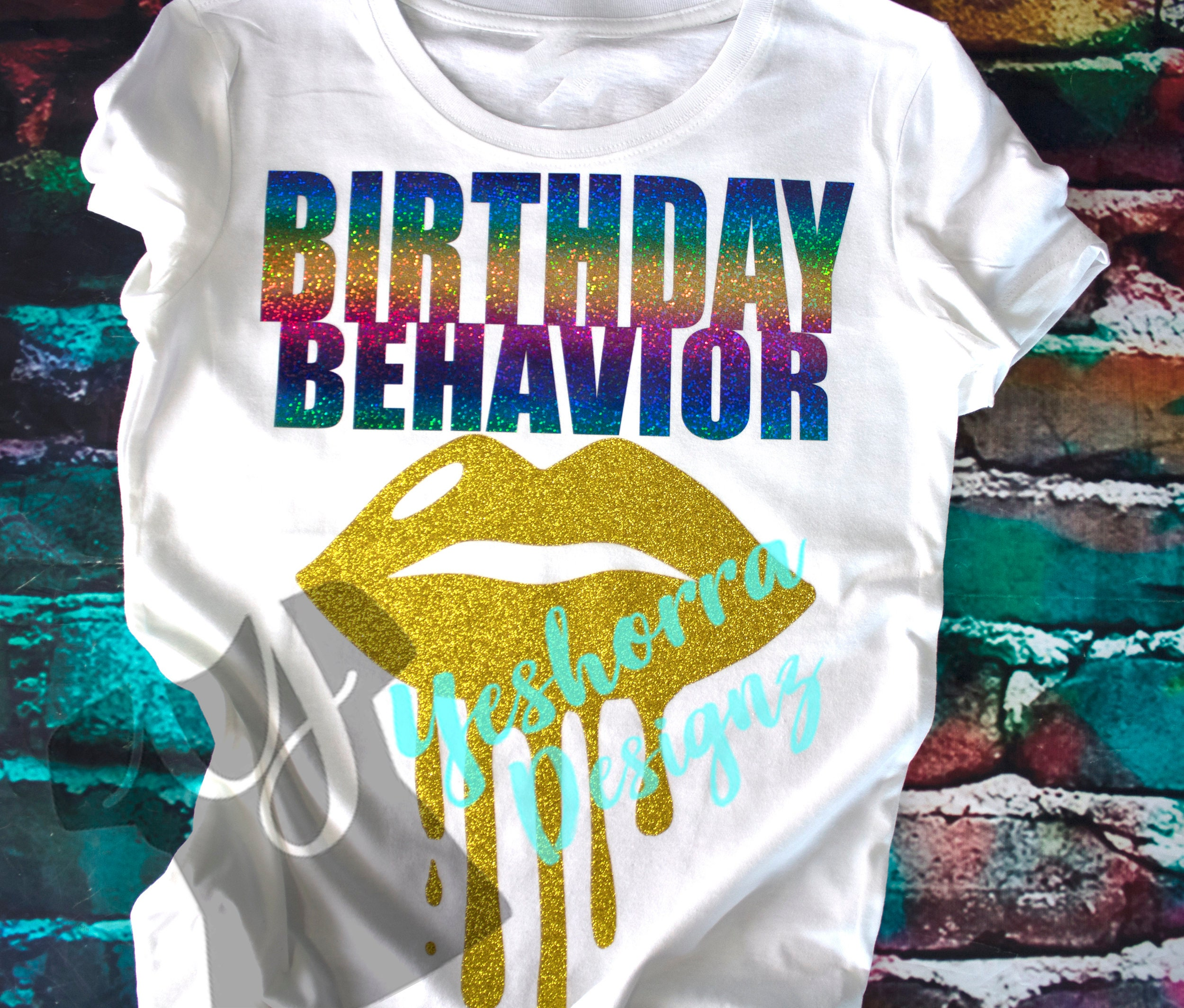 Birthday Shirt Behavior Rainbow