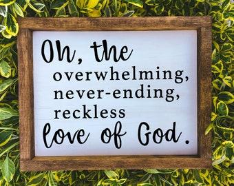 OH THE OVERWHELMING Never-Ending Reckless Love of God Keychain \u2022 God Loves You Gift \u2022 Encouragement Gift \u2022 Husband Wife \u2022 Cory Asbury Song