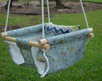 Handmade Canvas Baby Swing - READY TO SHIP!