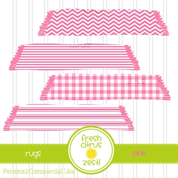 Rug Clip Art Pink Carpet Nursery Picnic Blanket Clip Art