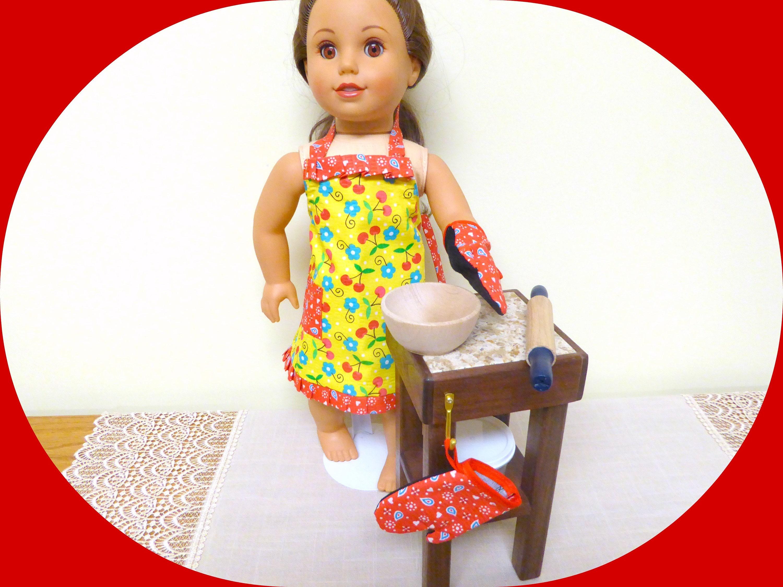 american doll wood kitchen set 18 doll butcher etsy. Black Bedroom Furniture Sets. Home Design Ideas