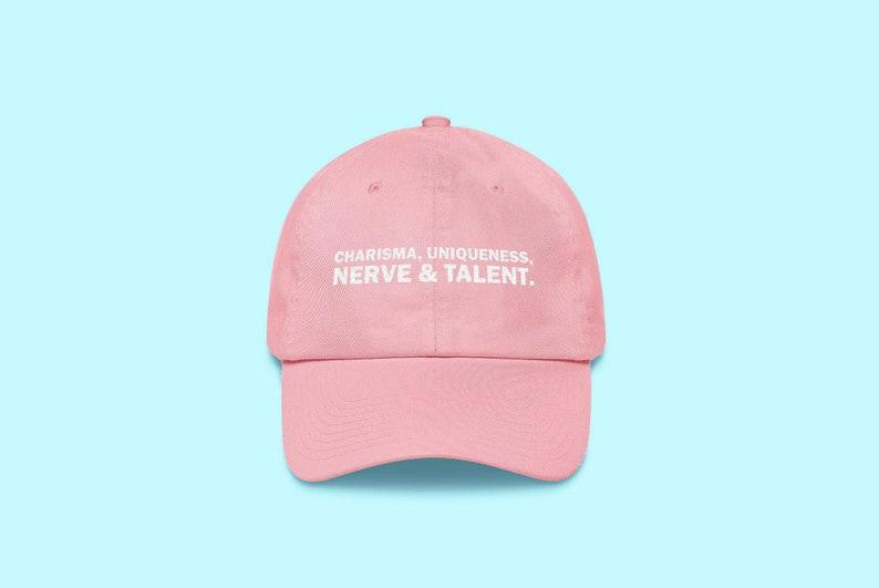 Charisma Uniqueness Nerve   Talent Dad Hat Candy Pink  f4e26d0b7ba8