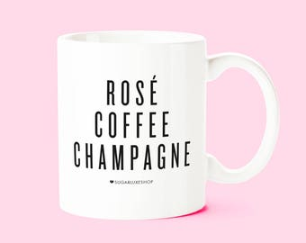 Sale! IMPERFECT! Rosé Coffee Champagne | White Coffee Mug