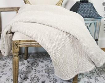 Linen blanket-baby blanket-linen throw blanket-linen throw-waffle linen bed throw-beach blanket-king size blanket-linen baby blanket