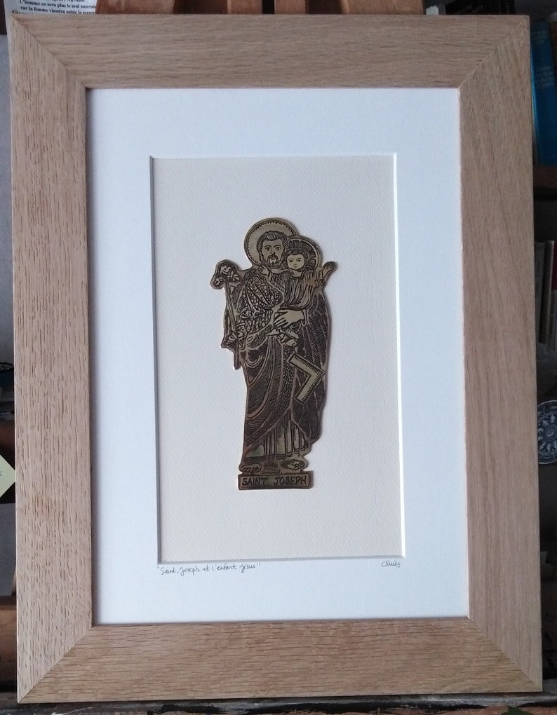 Saint Joseph and the baby Jesus