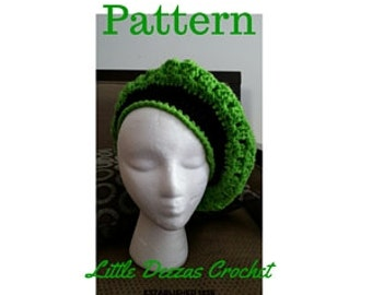 Little Deezas Kingston Cap Crochet pattern, Kingston Cap, Crocheted hat pattern, Crocheted Cap