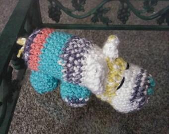Hippo plush toy,multicolor Hippo, Amigurumi hippo, Crocheted hippo, plush toy, plush hippo, Hippopotamus, office deco