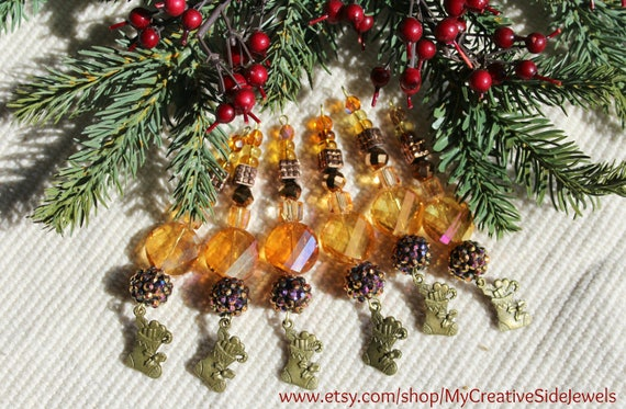 amber christmas ornaments gold icicle tree ornaments amber beaded ornaments gold christmas tree decor holiday stocking ornaments