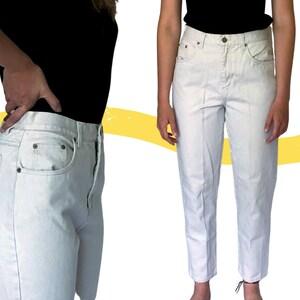Vintage 90s High-Waisted Drawstring Soft Denim Capris US Size 8Medium