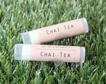 Chai Tea Latte Lip Balm // All Natural Handmade Beeswax Lip Care with Vitamin E and Shea Butter // Dessert Lip Balms // seasonal lip balm