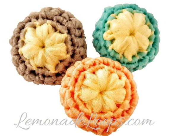 Crochet Pattern Flower Scrubbie Pattern Nylon Tulle Face Pot Scrubber Scrubbers Scrubbers Patterns Easy Diy Kitchen Scrubby Gifts Download
