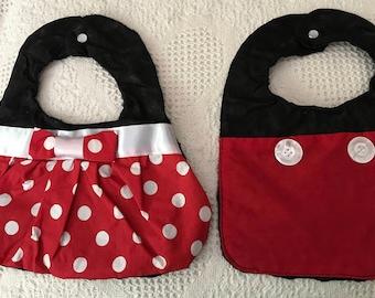 Mickey & Minnie bibs