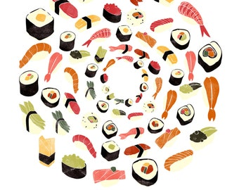 Sushi gicée print