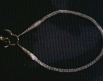 Viking Weave necklace, sterling plated.
