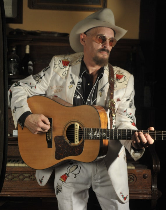 White Linen Western Suit Hillbilly Hollywood  Modd