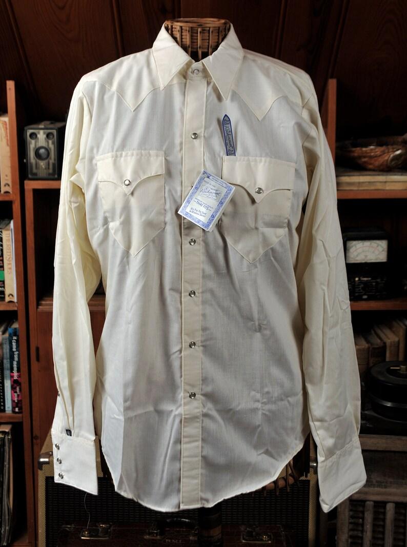 b69e526b Cream / Yellow Rockmount 60's Vintage Mens Cowboy Western | Etsy