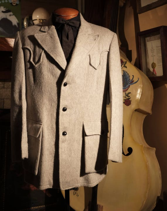 Vintage Cashmere & Wool Light Grey / Cream 40's Do