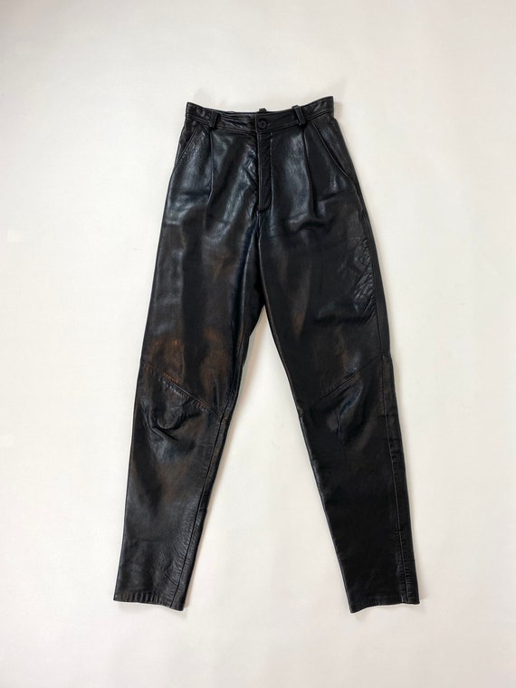 1980s Genuine Leather Pants Size 8