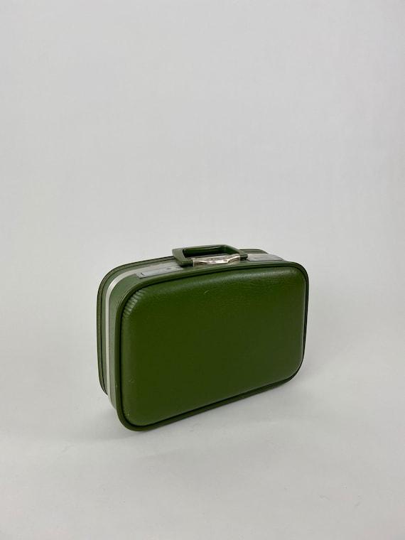 Mid Century Modern Avocado Green Suitcase