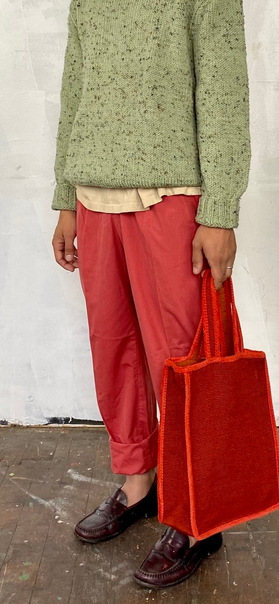 1960s two tone red tote bag - image 4