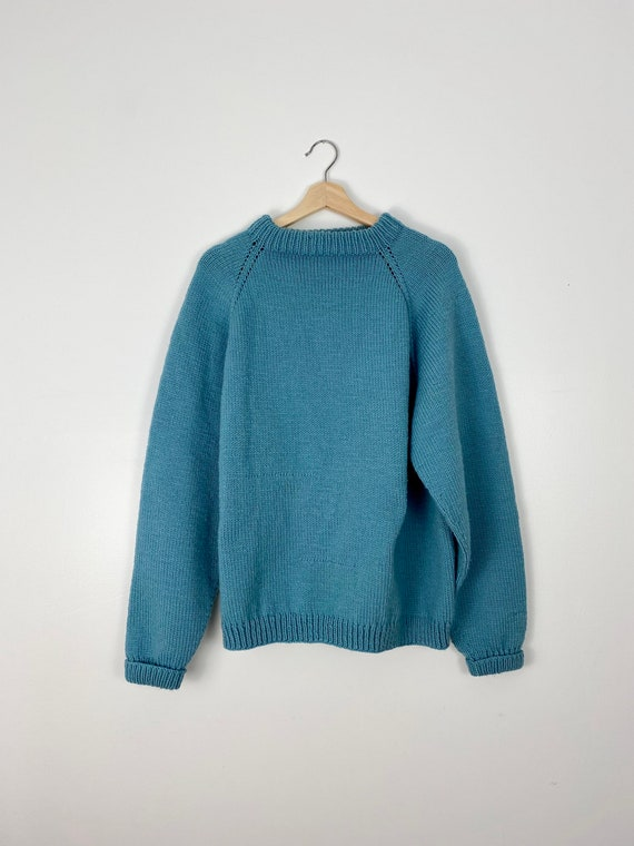 Hand Knit Acrylic Sweater - image 1