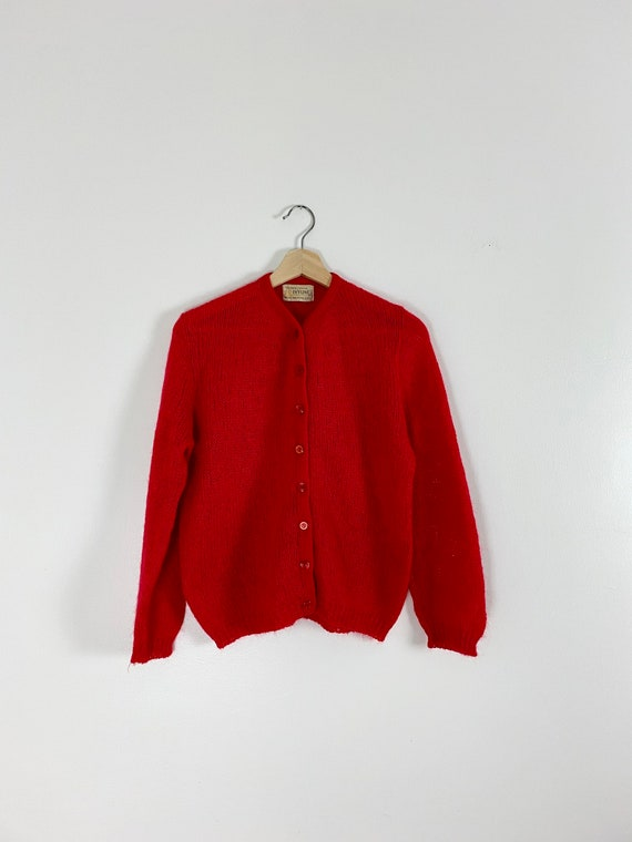 1950s Hand Knit Ivyline Sportswear Cardigan