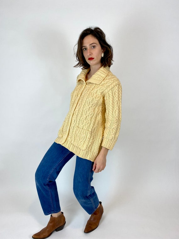 Aran Crafts Merino Wool Knit Cardigan