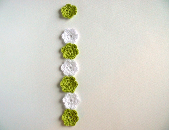 12 Blume Häkeln Häkeln Mini Blumen Verzierungen Etsy