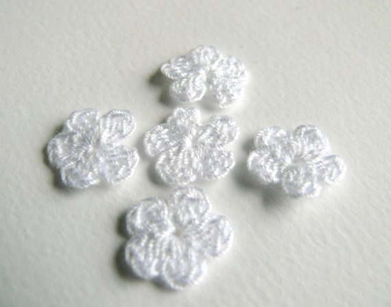 15 Blume Häkeln Häkeln Mini Blumen Verzierungen Etsy