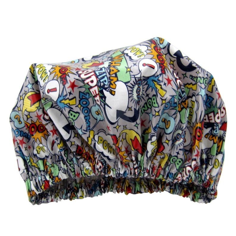 Superhero Shower Cap Unisex Made in Australia image 0