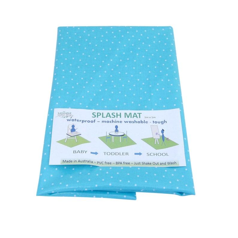 Splat mat High chair mat Splash Mat waterproof floor messy mat image 0