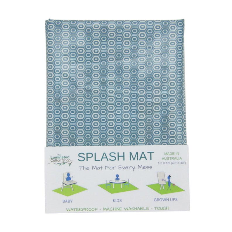 Splash mat Machine Washable Splat Mat Waterproof Messy Mat image 0