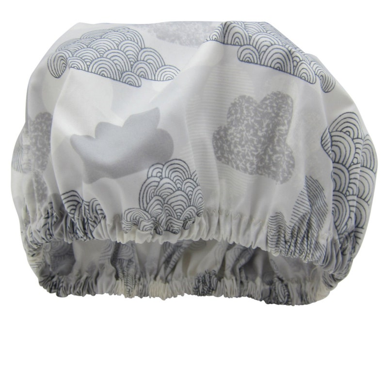 Luxury Shower Cap Waterproof Organic Cotton Made in Australia image 0