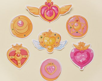 Sailor Moon Compact/Brooch Accessories/Magical Items Sticker Set
