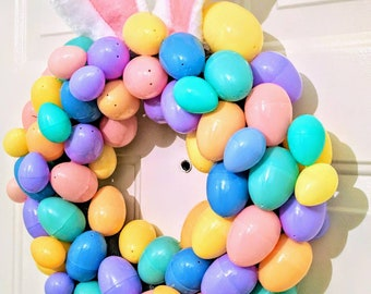 Bunny Easter Egg Wreath