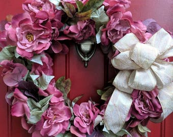 Dusty Rose Autumn Wreath