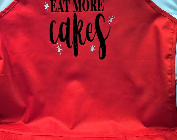 Eat More Cakes Apron w/Pockets