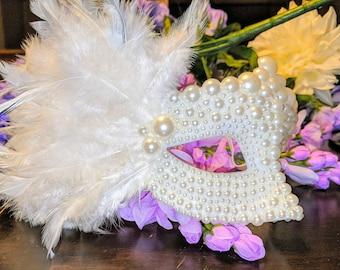 Pearl Venetian Mask