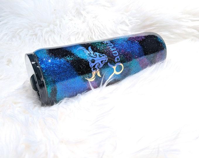 Zodiac Glitter Tumbler