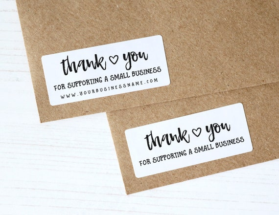 30 thank you for supporting small business stickers shop