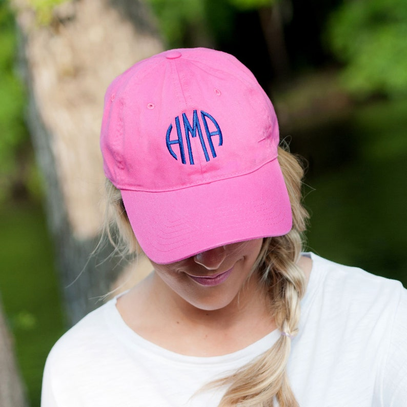 b498246a70697 Monogrammed Pink Baseball Cap- Personalized Ball Hat- Adult Monogram Ball  Cap- Women's Initial Baseball Hat- Embroidered Caps-Ladies Hat