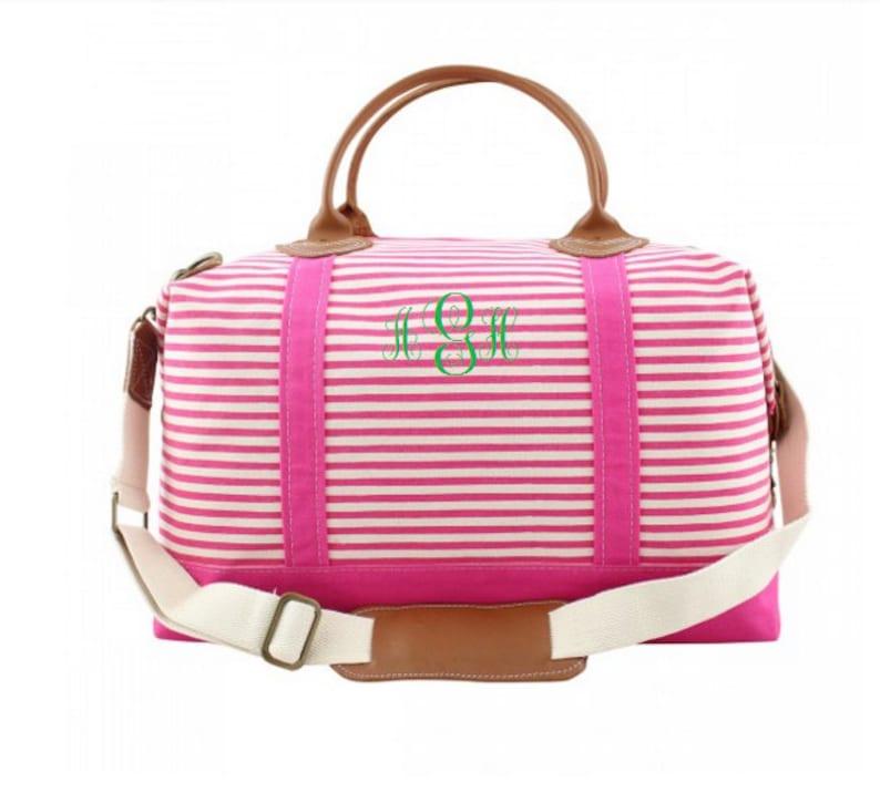 2258b8082f78 Monogram Weekender Bag Monogrammed Duffle Bag Monogram Canvas Duffel ...
