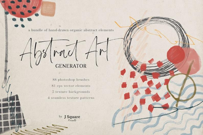 Abstract Art Generator Photoshop Brush Preset Vector image 0