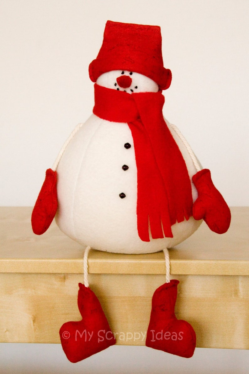 DIY Winter Snowman  sewing tutorial and pattern  PDF instant image 1