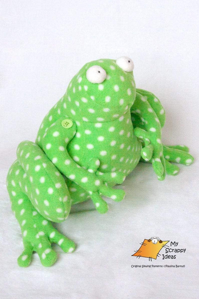 Ribbit the Fearless Frog Fleece Toy / Door-Stop/ Home image 0