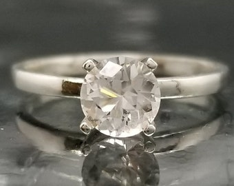 Danburite Silver Solitaire Ring Made to Order
