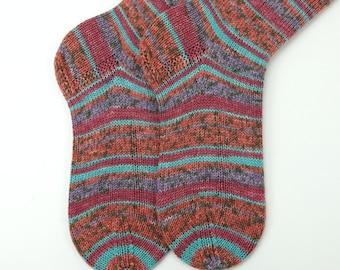 hand knitted socks, wool socks, handmade socks, women socks, warm winter socks, ladies socks, warm socks UK 6-6,5  US 7,5-8