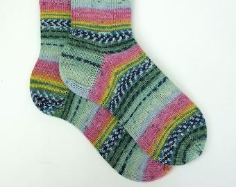 hand knitted socks, wool socks, handmade socks, women socks, warm winter socks, happy socks, men socks, warm socks,UK 6,5-7,5 US 8-9